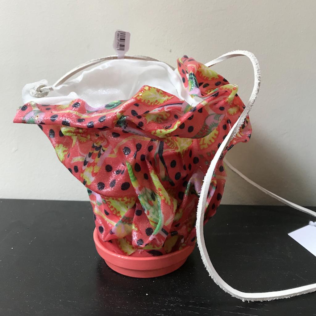 Resin Coated Fabric - Hanging Succulent Pot
