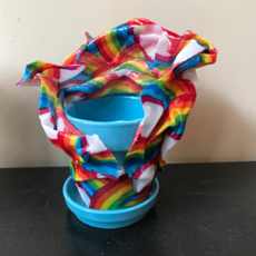 Resin Coated Fabric - Small Tabletop Pot