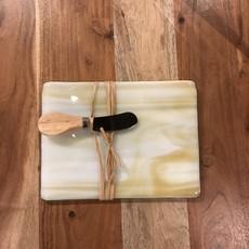 Fused Glass Cutting Board w/ Knife