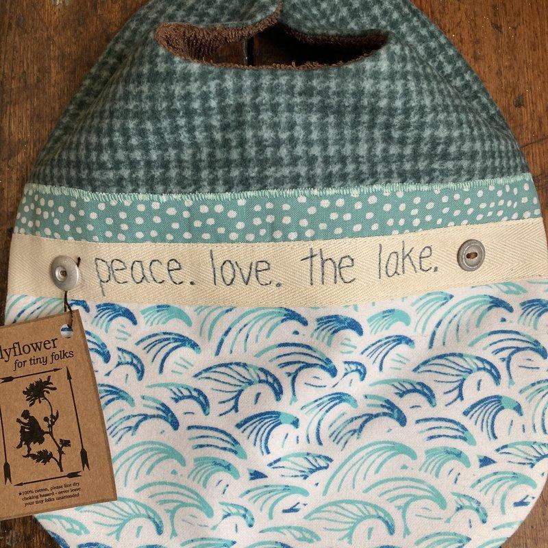 Deb Christenson Bib - Peace. Love. The Lake