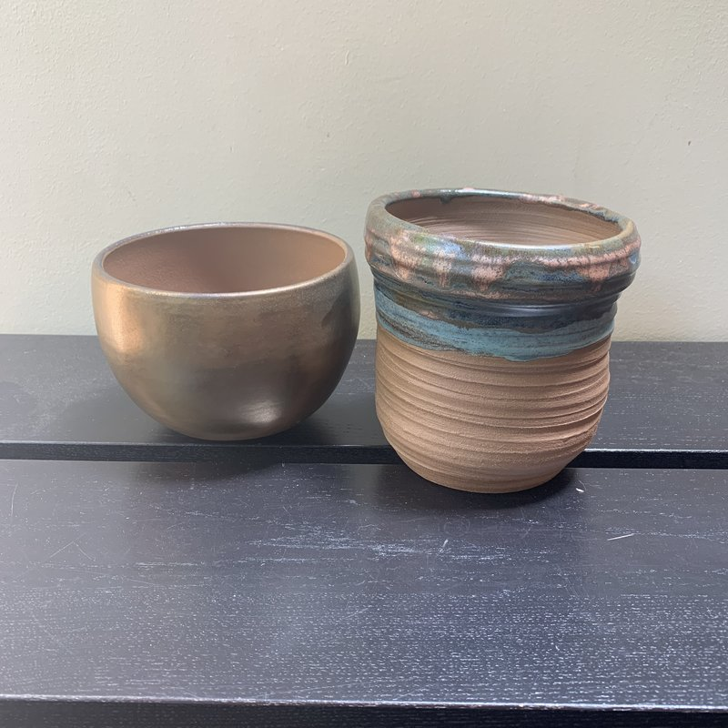 Ann Wrzosek-Manor (Meadowsong Studios) Brown Glazed Pot
