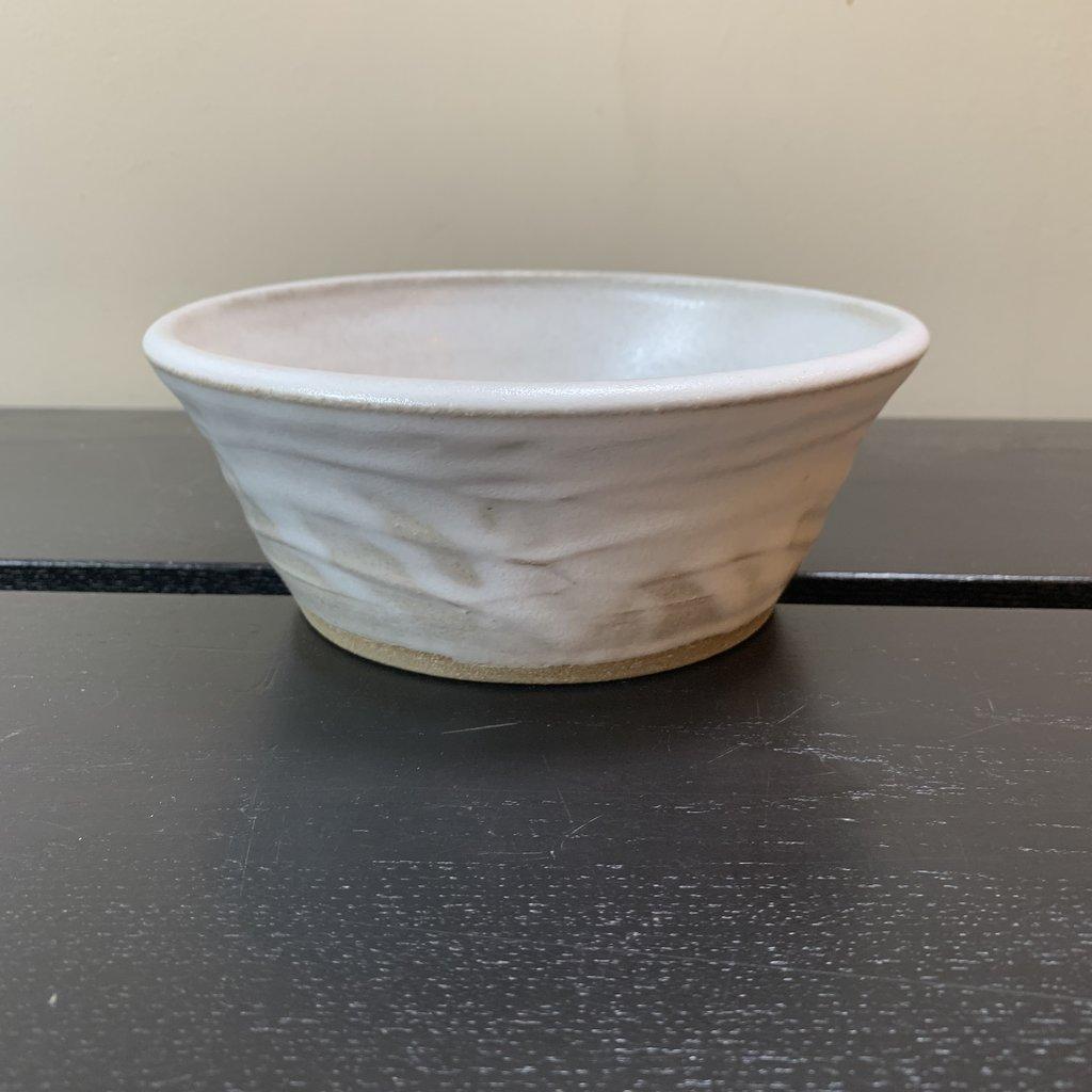 Dancing Cat Arts (Pottery) Pet Bowl - White