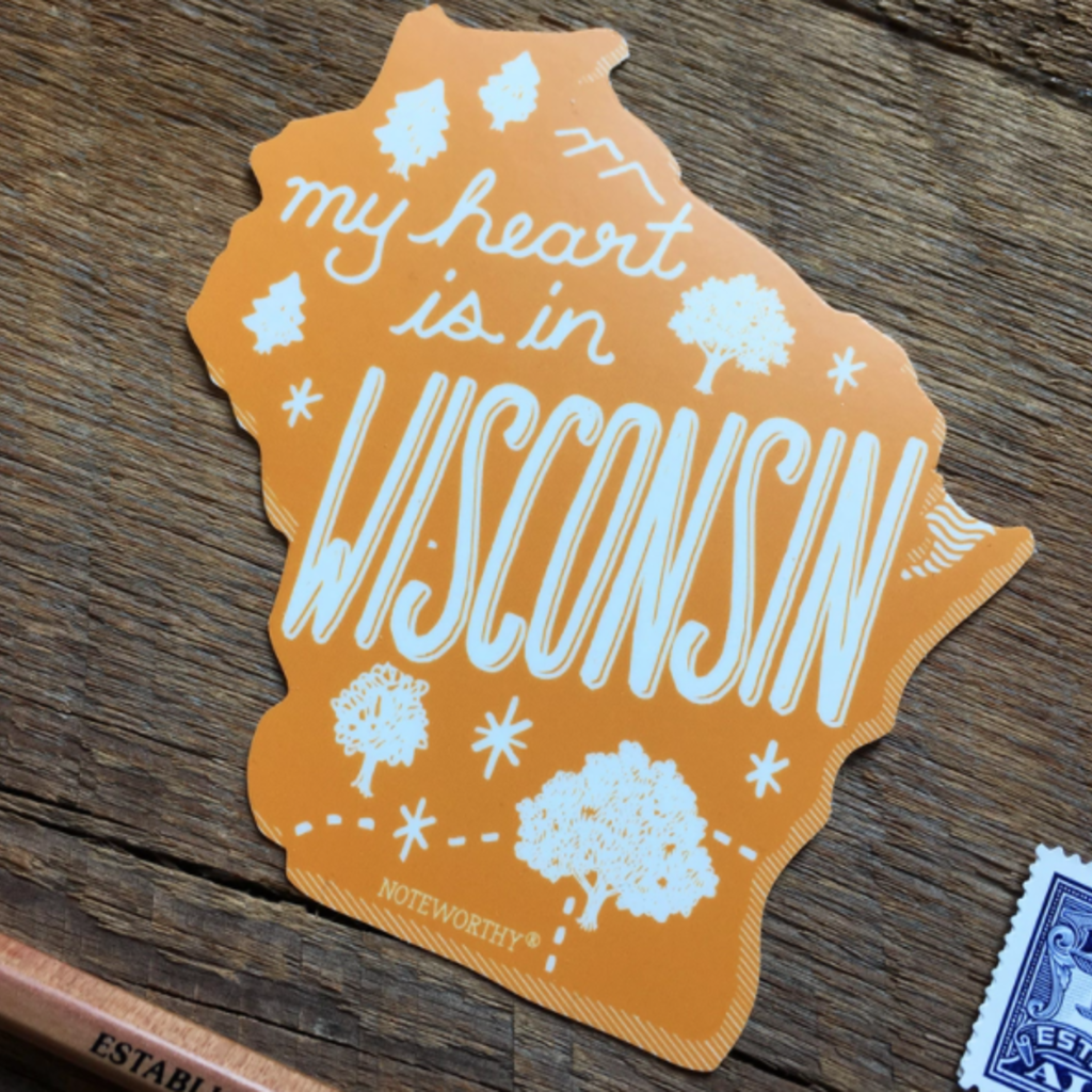 Sticker - My Heart is in Wisconsin