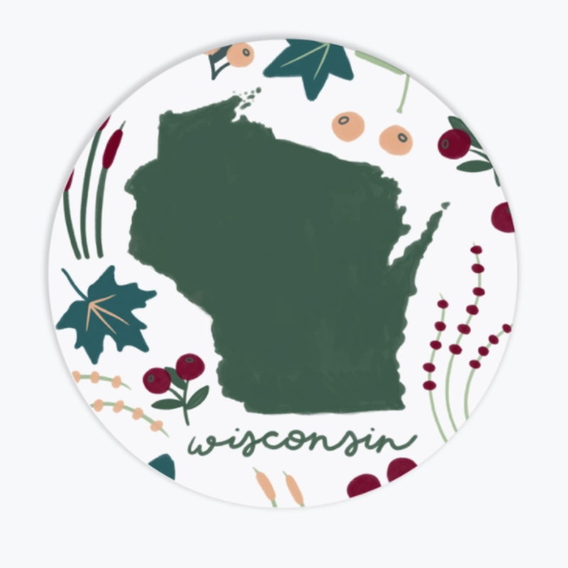 Tandem for Two Decal Sticker - Wisconsin Flora & Fauna