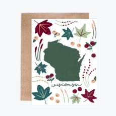 Tandem for Two Greeting Card - Wisconsin Flora & Fauna