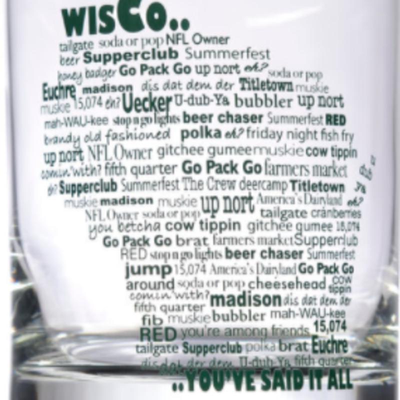 Wisco Lingo Rocks Glass