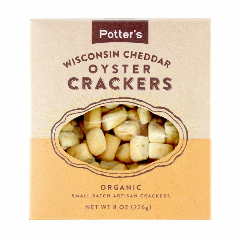Potter's Crackers Potter's Oyster Crackers: Wisconsin Cheddar
