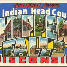 Found Image Press Greetings from Chippewa Falls Vintage Print (12.5x18)