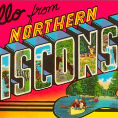 Found Image Press Hello from Northern Wisconsin Vintage Print (12.5x18)