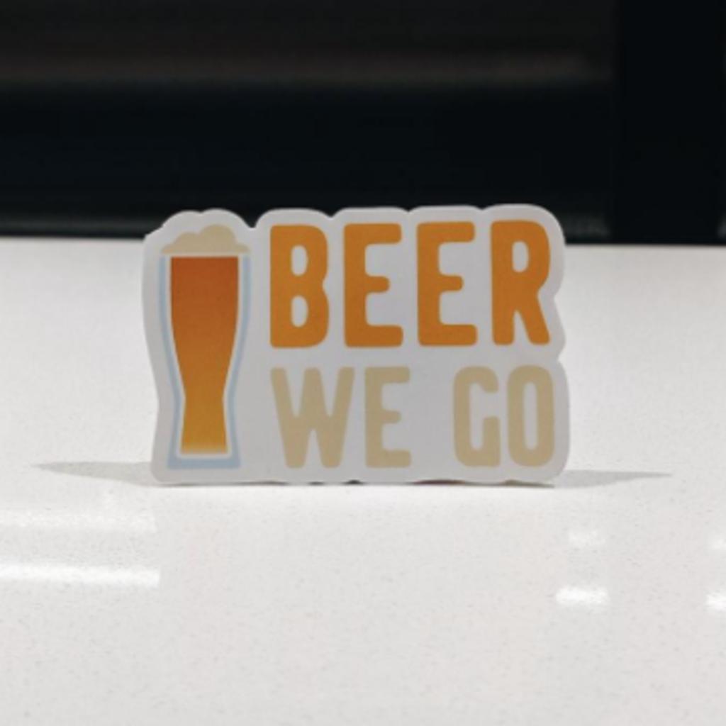 Fox and Felicity Sticker - Beer We Go