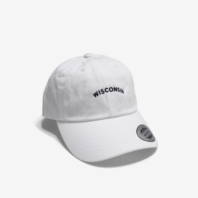 Wisconsin Baseball Cap (Black & White)