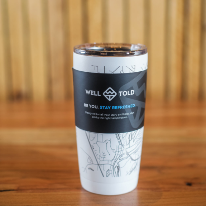 Volume One Insulated Pint Tumbler (20 oz) - Eau Claire Map
