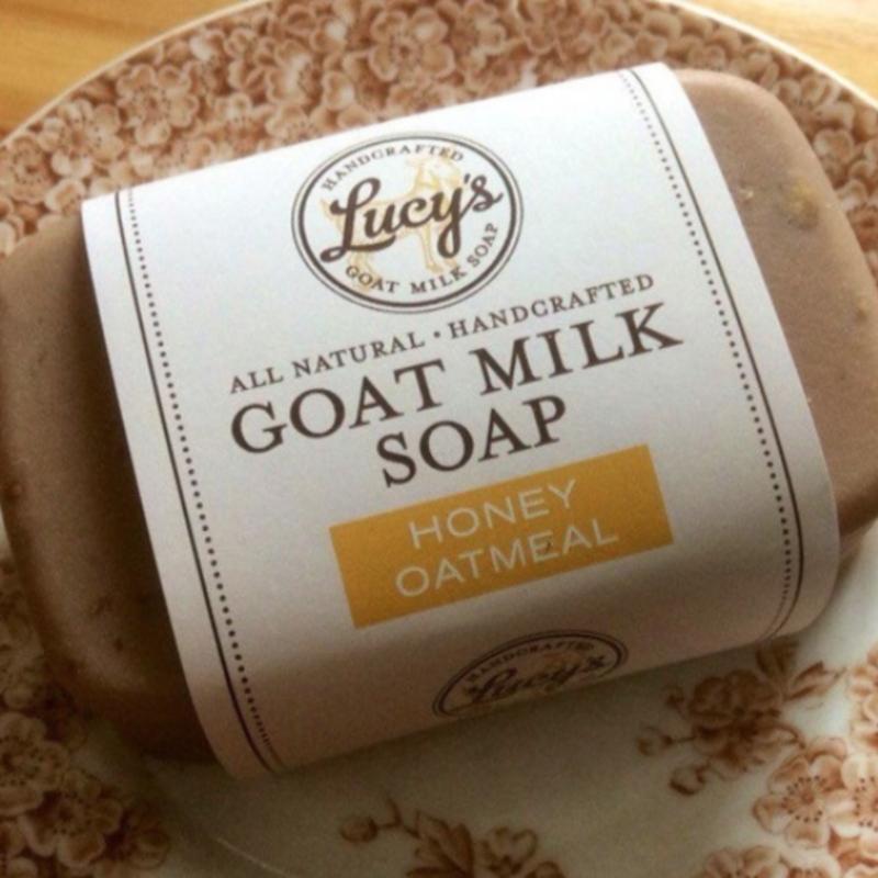 Lucy's Goat Milk Soap Lucy's Goat Milk Soap - Honey Oatmeal