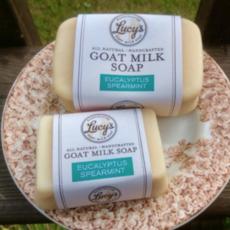 Lucy's Goat Milk Soap Lucy's Goat Milk Soap - Eucalyptus Spearmint