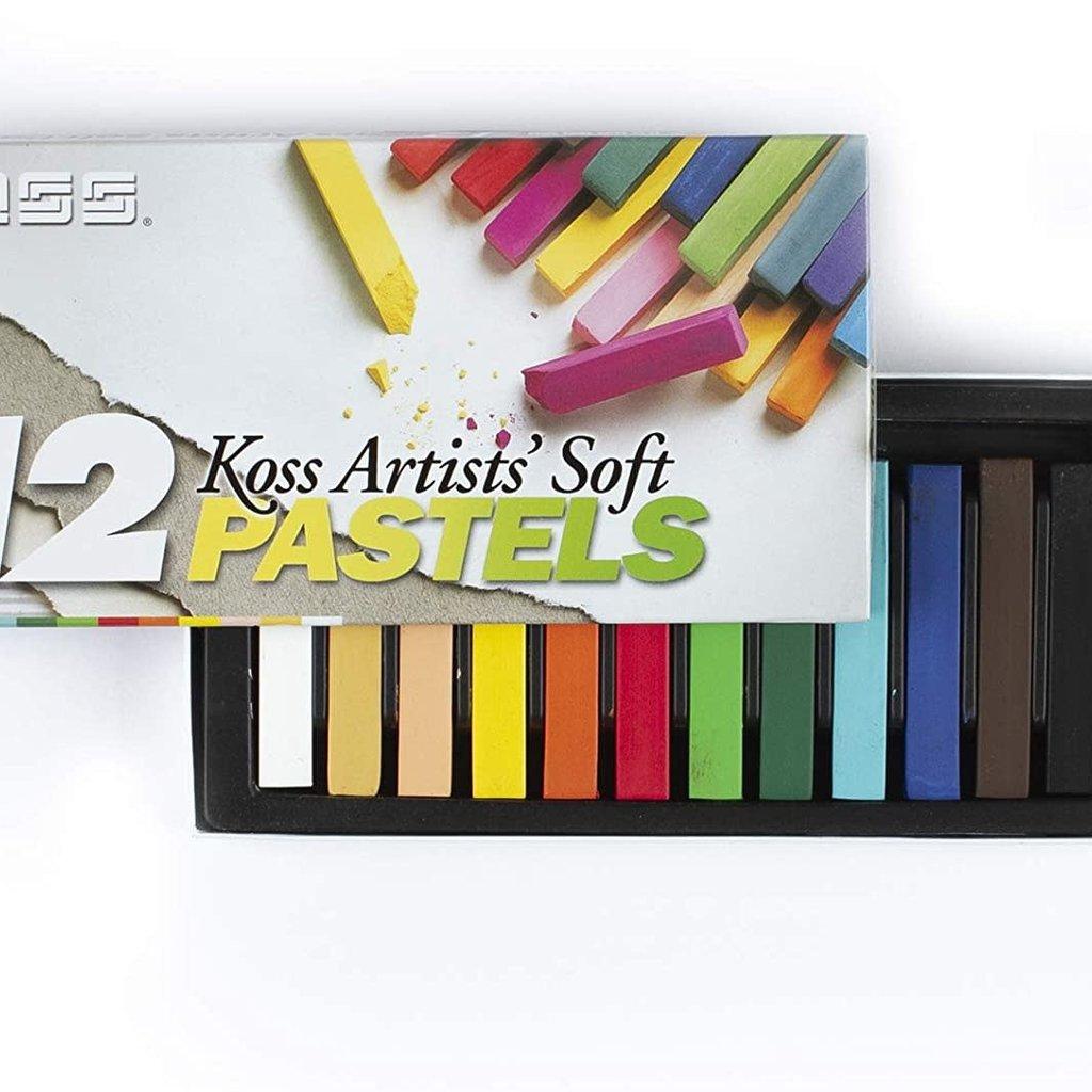 Volume One Koss Artists' Soft Pastel Chalks - 12 Colors