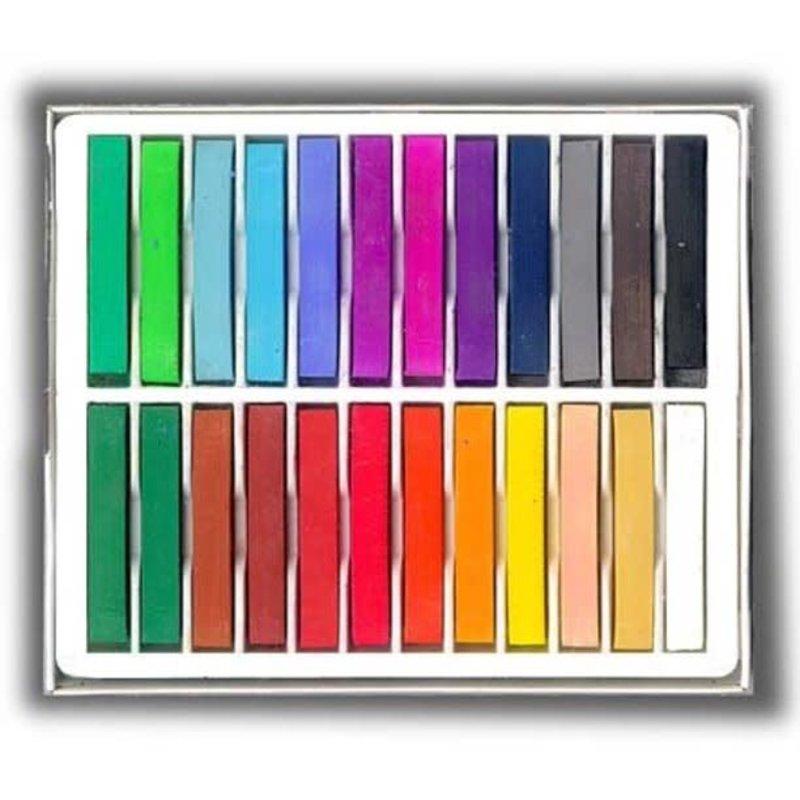 Volume One Koss Artists' Soft Pastel Chalks - 24 Colors