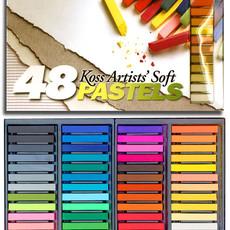 Volume One Koss Artists' Soft Pastel Chalks - 48 Colors