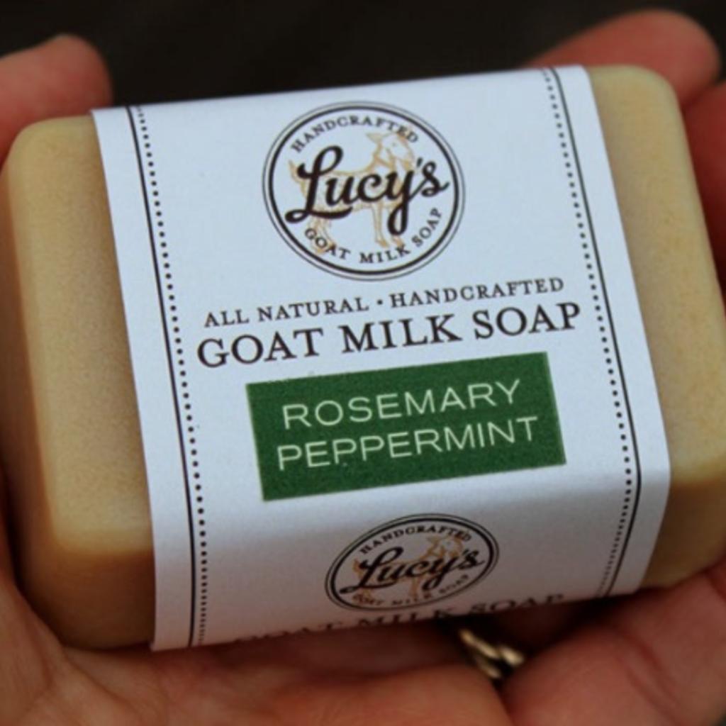 Lucy's Goat Milk Soap Lucy's Goat Milk Soap - Rosemary Peppermint