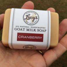 Lucy's Goat Milk Soap Lucy's Goat Milk Soap - Cranberry