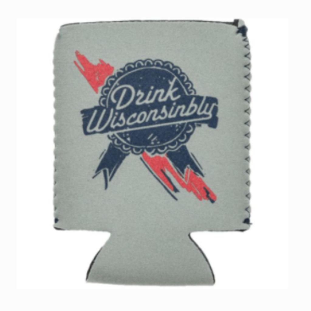 Drink Wisconsinbly Koozie - Drink Wisconsinbly (Ribbon)