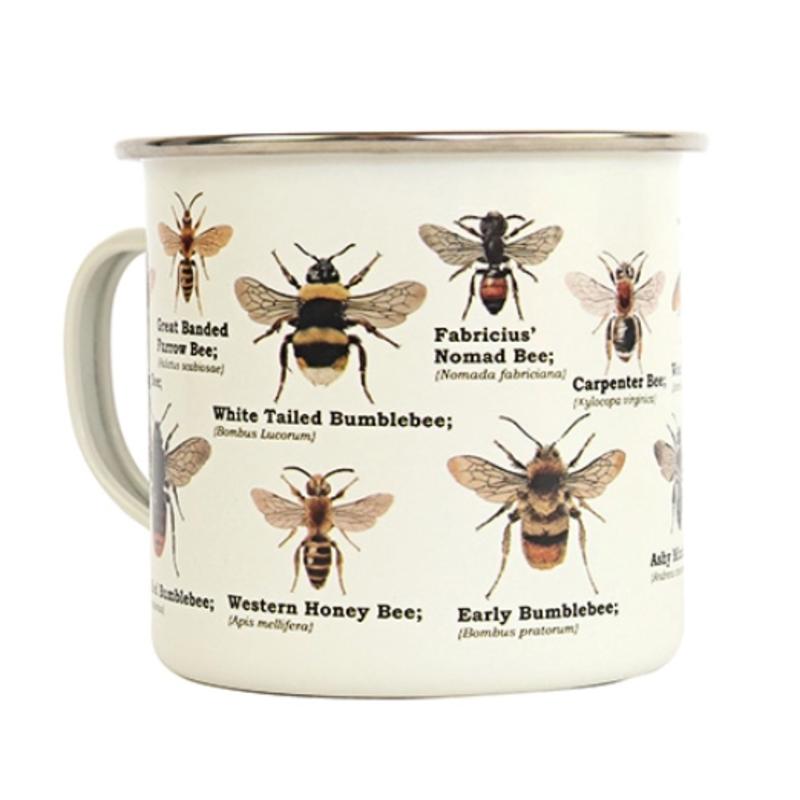 Gift Republic Enamel Mug - Bees