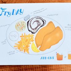 Cracked Designs Fish FryDAY Diagram - Print (8x10)