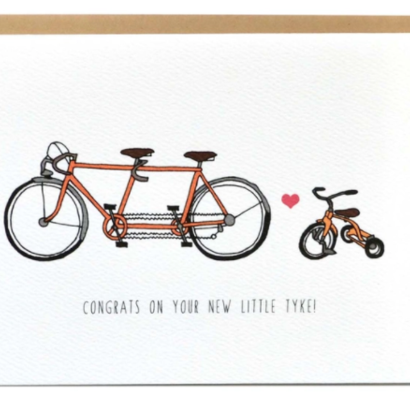 Cracked Designs Greeting Card - Little Tyke New Baby