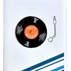 Cracked Designs Greeting Card - Vinyl Birthday