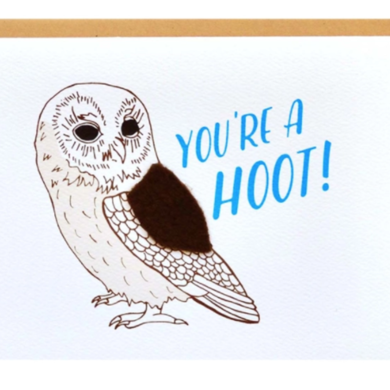 Cracked Designs Greeting Card - You're A Hoot