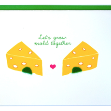 Cracked Designs Greeting Card - Let's Grow Mold Together