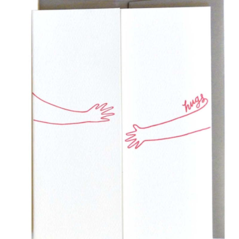Cracked Designs Greeting Card - Hugs For You