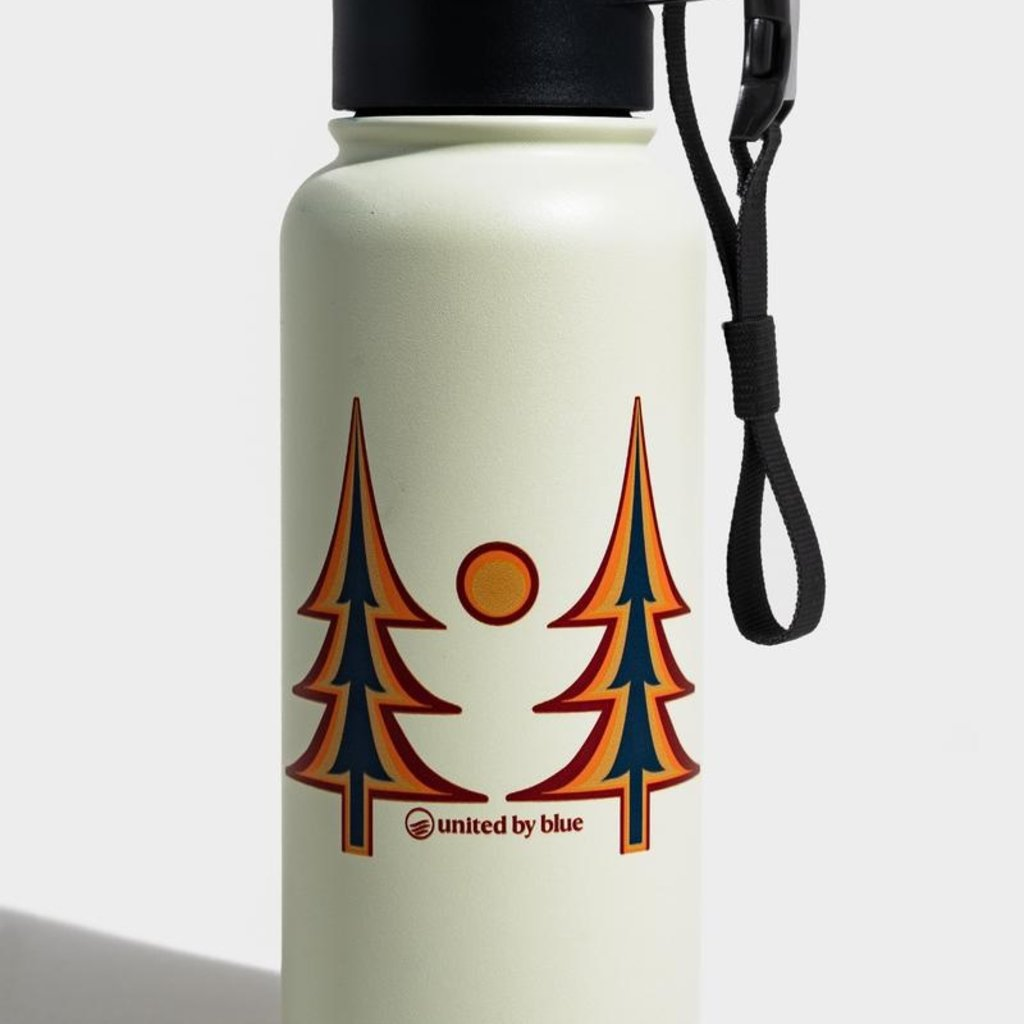 Volume One Insulated Steel Bottle - Trippy Trees (32 oz)