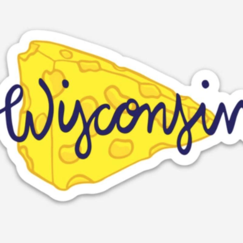 Wisconsin Cheese Vinyl Magnet