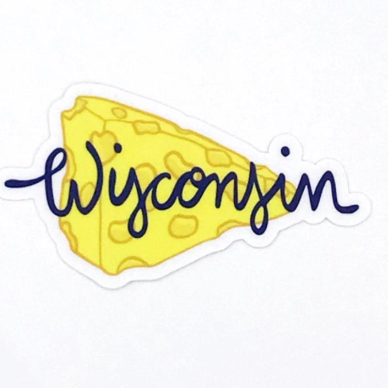 Wisconsin Cheese Vinyl Sticker