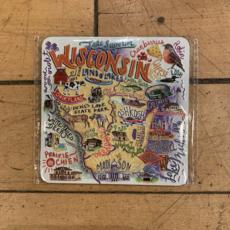 Wisconsin Watercolor Map Magnet