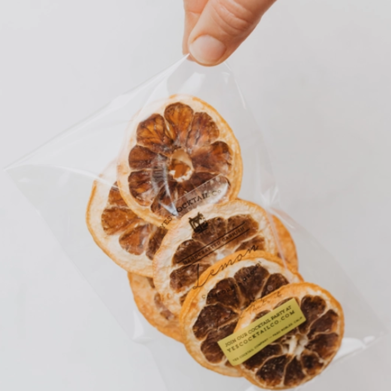 Dehydrated Cocktail Garnishes - Lemon