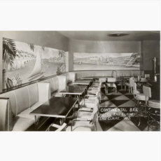 Found Image Press Postcard - Continental Bar, Eau Claire WI