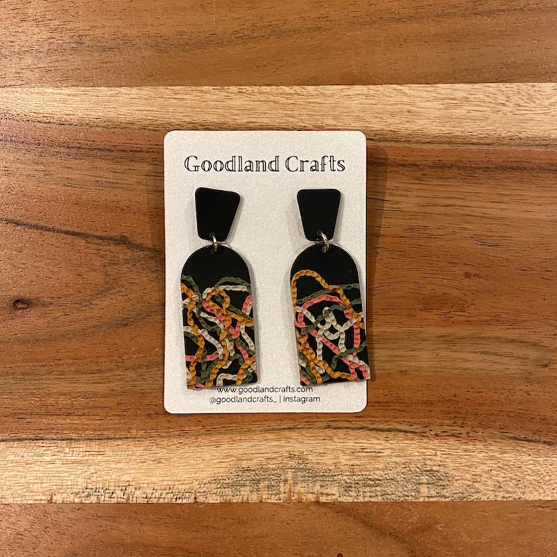 Pressed Texture Earrings
