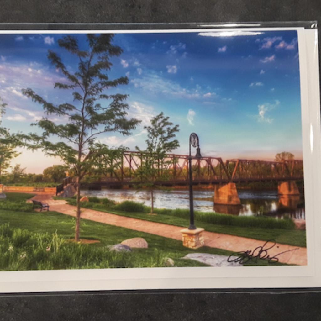Lloyd Fleig Greeting Card - Phoenix Park Bridge