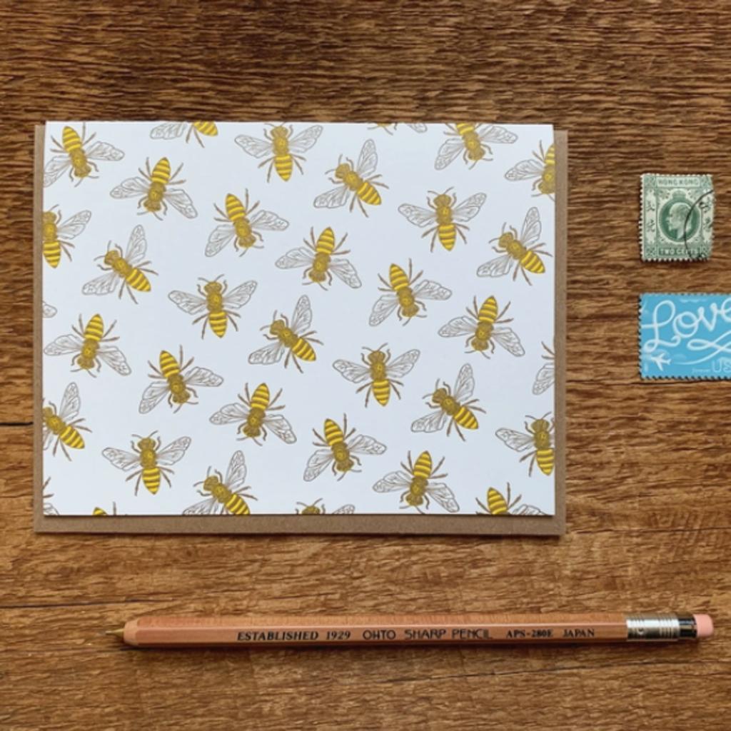 Greeting Card - Honey Bee
