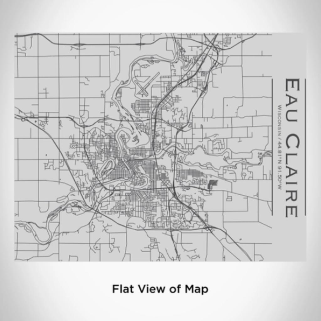 Volume One Eau Claire Map Bottle