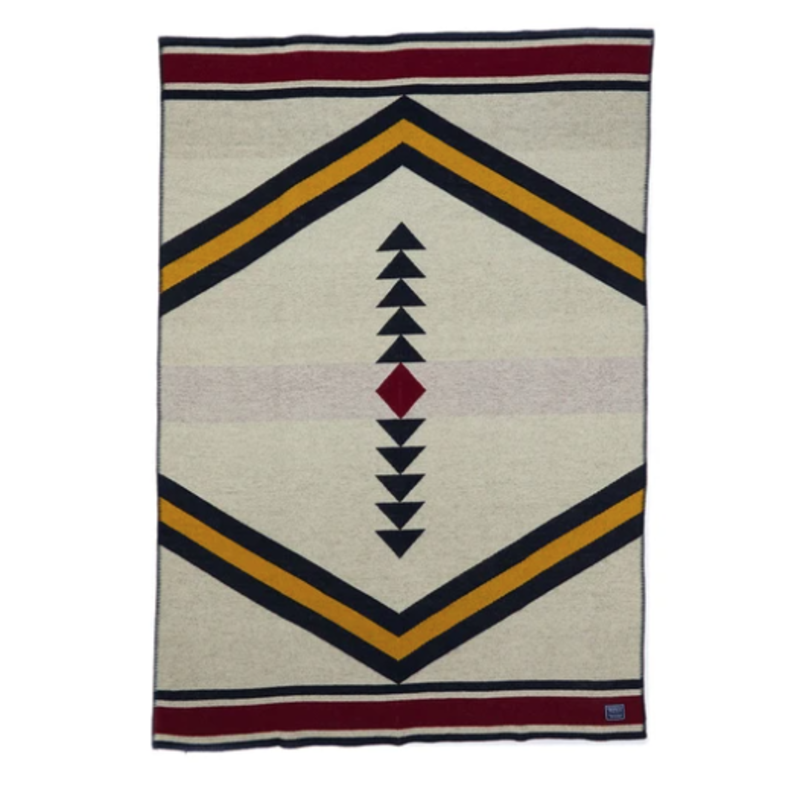 Wool Throw - Sanborn Canoe Arrows