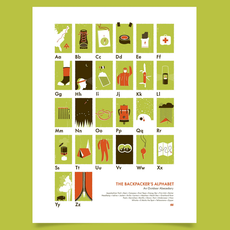 Backpackers Alphabet Poster 18x24