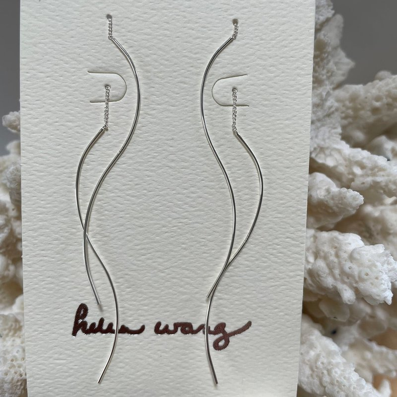 Helen Wang Jewelry Earrings - Silver Squiggle Threader
