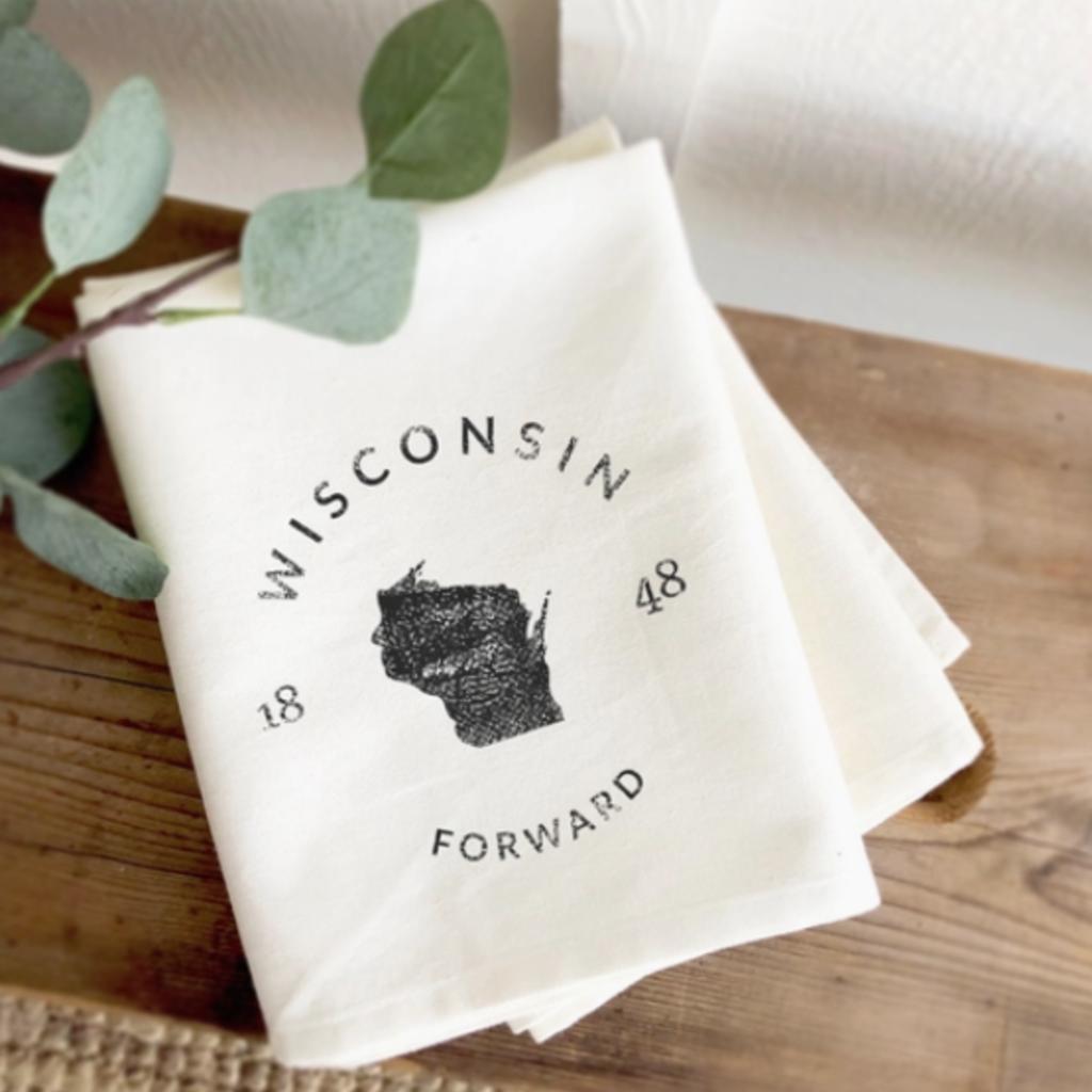 Cotton Tea Towel - Wisconsin Motto