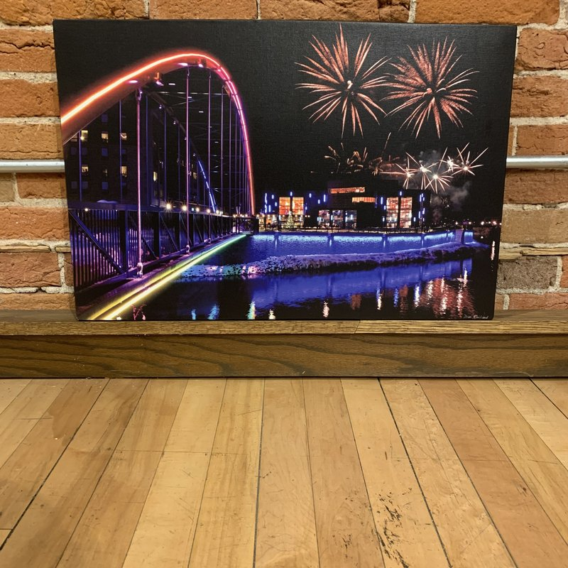 Stretched Canvas - Confluence  Fireworks