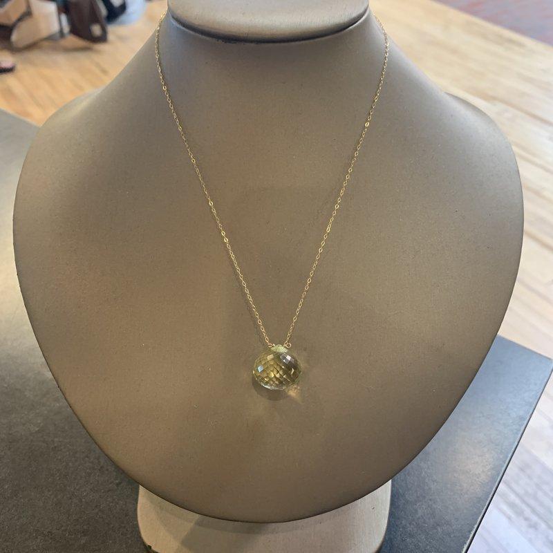 Helen Wang Jewelry Necklace - Lemon Quartz Colossal Briolette