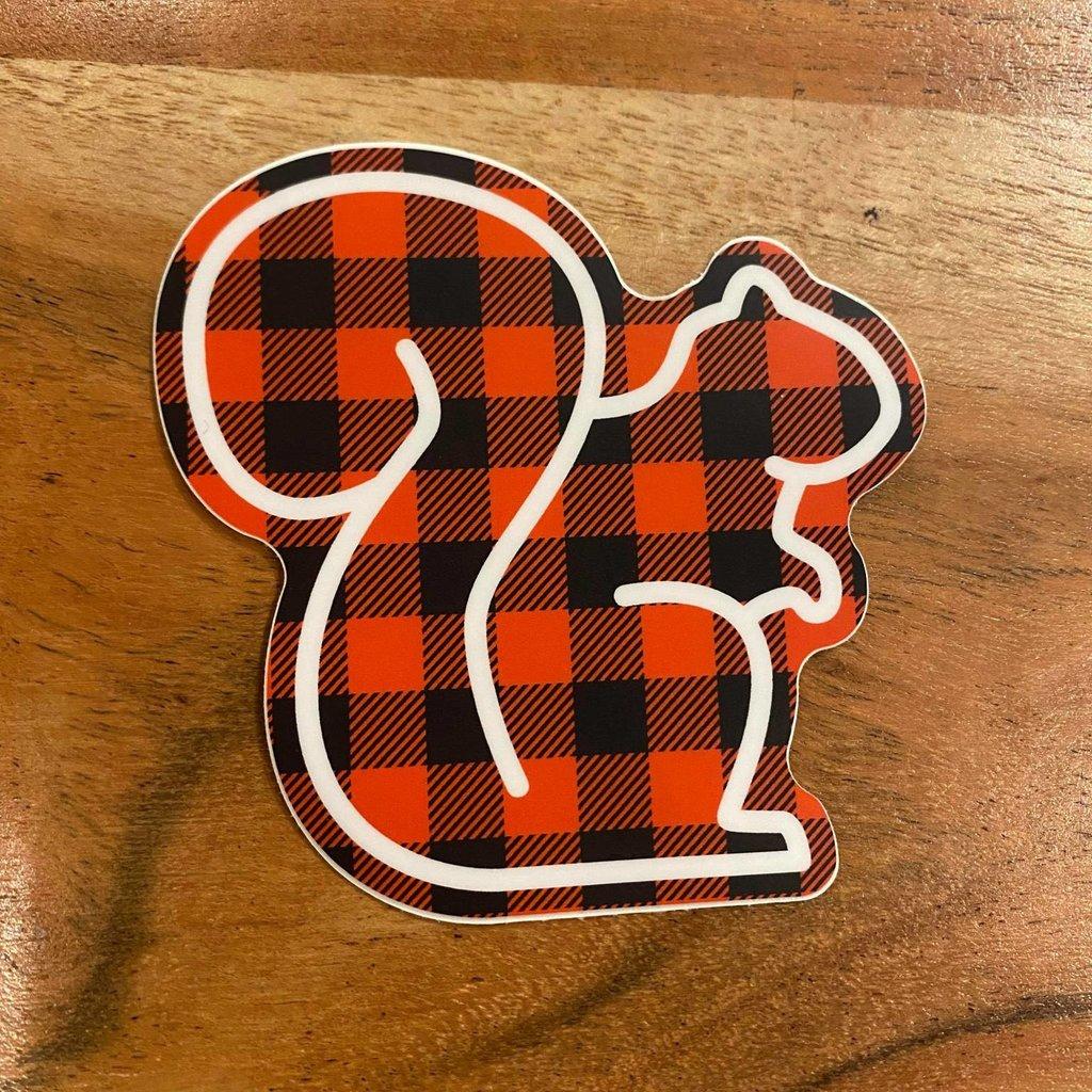 Sticker - Buffalo Plaid Squirrel