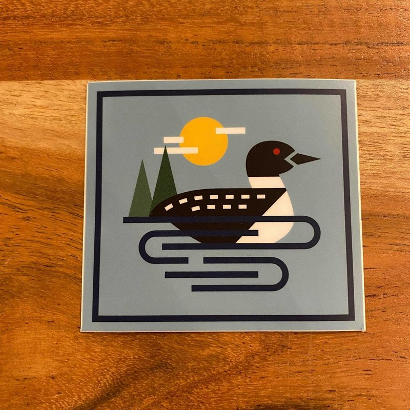 Sticker - Geometric Loon