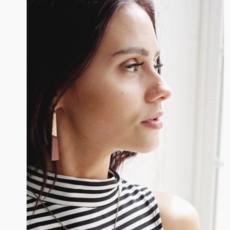 Permanent Baggage Earrings - Leather Slim